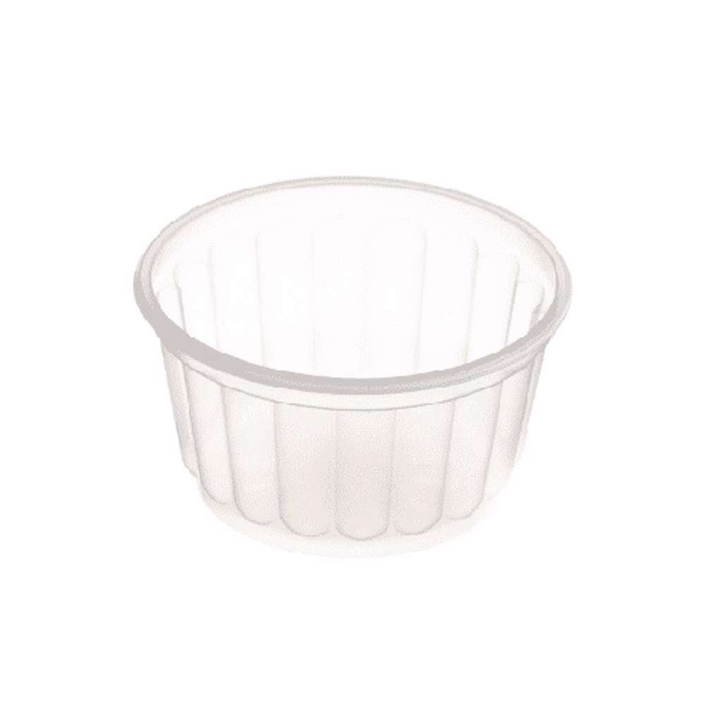 MPC PP Ribbed Clear Round Container With Lid 350ml 114Dia.- 500PCS