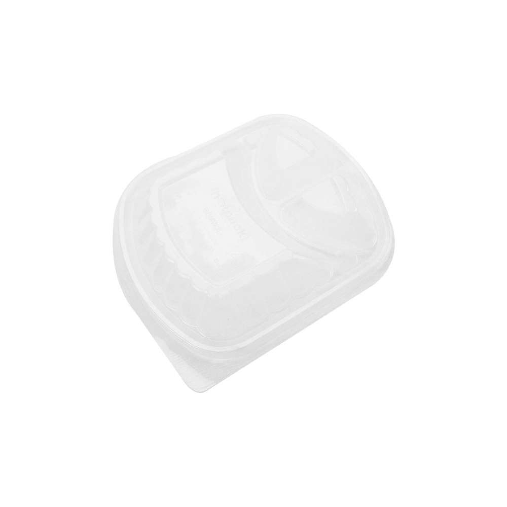 MPC PP Black Base Container Clear Lid Only- 3 Compartment- 250pcs