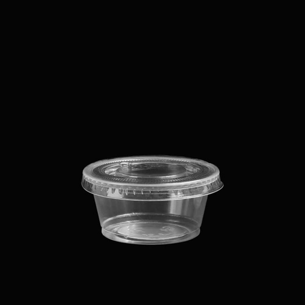 FP Garlic Cup Clear With Lid 1oz - 2000pcs