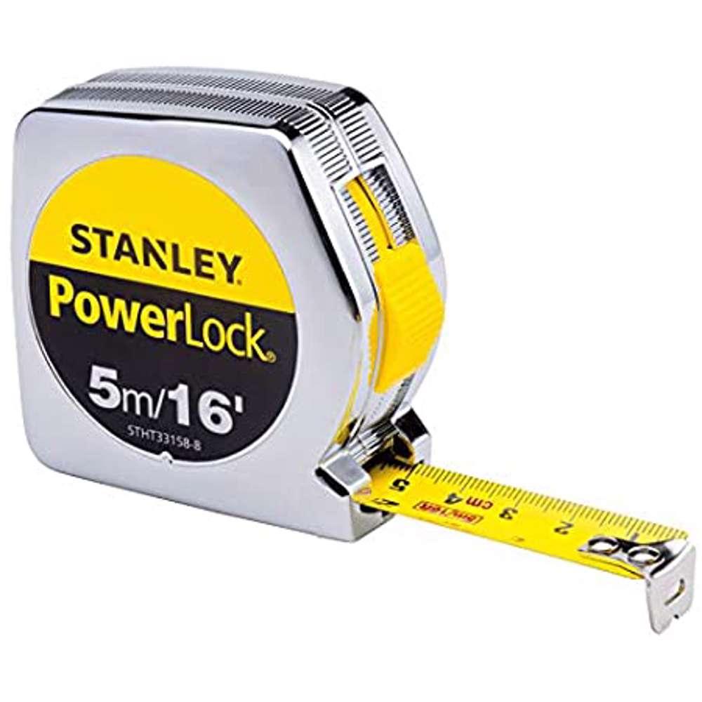 Stanley STHT33158-8 Power Lock M.Tape 5M/Ex19mm Metric-Imperial