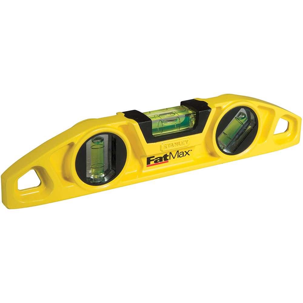 Stanley 0-43-603 Fatmax Tropedo Aluminium Magnetic Level 3 Vials