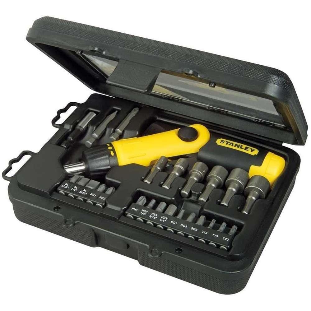 Stanley 0-63-022 Ratchet Screwdriver Set 25Pcs Pistol Grip.