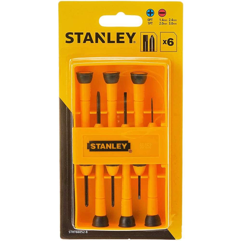 Stanley STHT66052-8 6Pcs Bi-Mat Precision Screw Driver Set