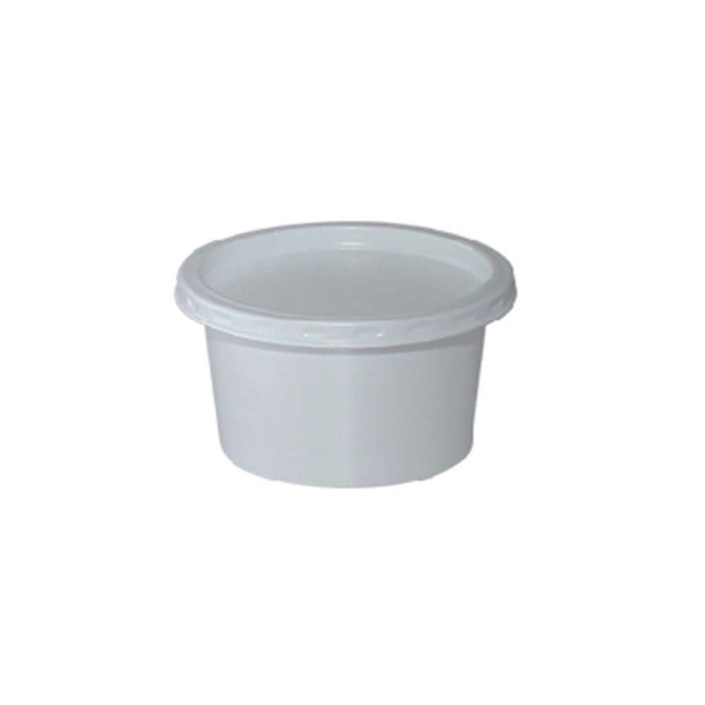 MPC PS Plain White Container 75ml-73Dia with PS White Lid- 1500pcs