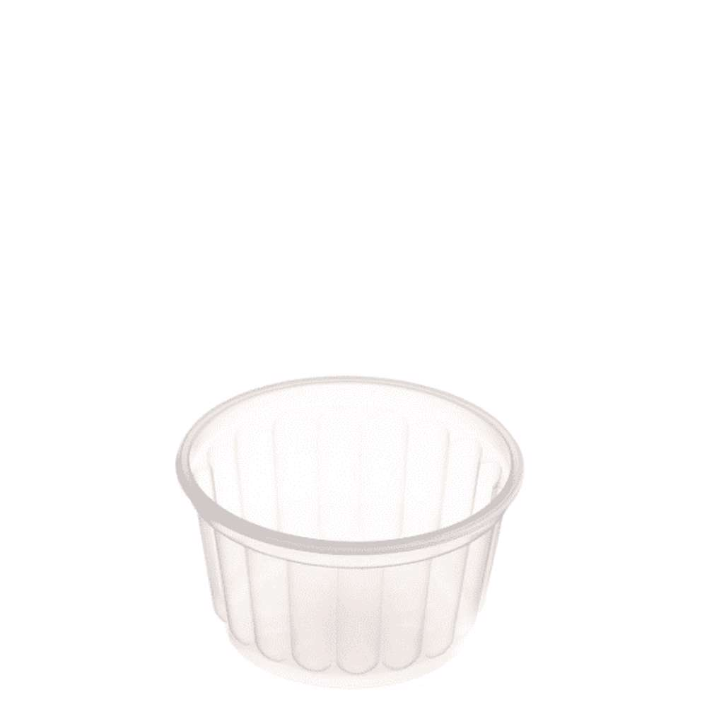MPC PP Ribbed Clear Round Container With Lid 200ml 114Dia.- 500pcs