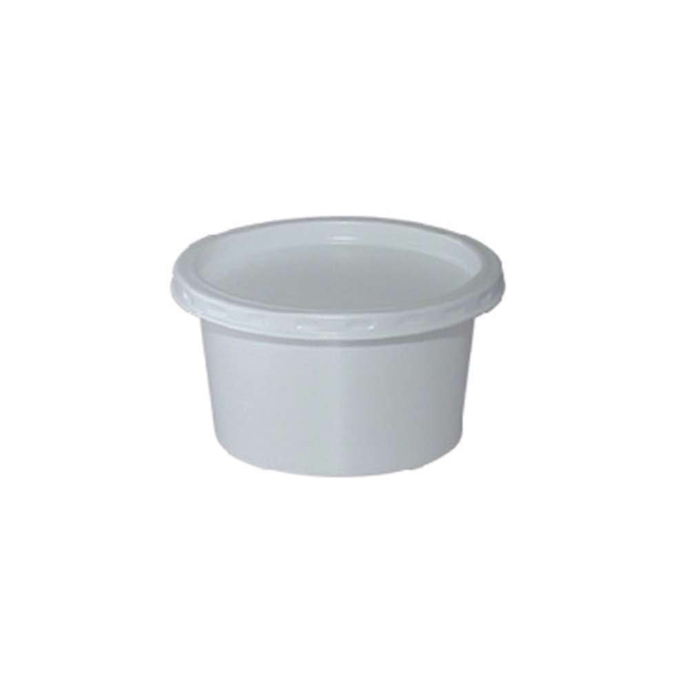 MPC PS Plain White Container 75ml - 73Dia With Lid - 1500pcs