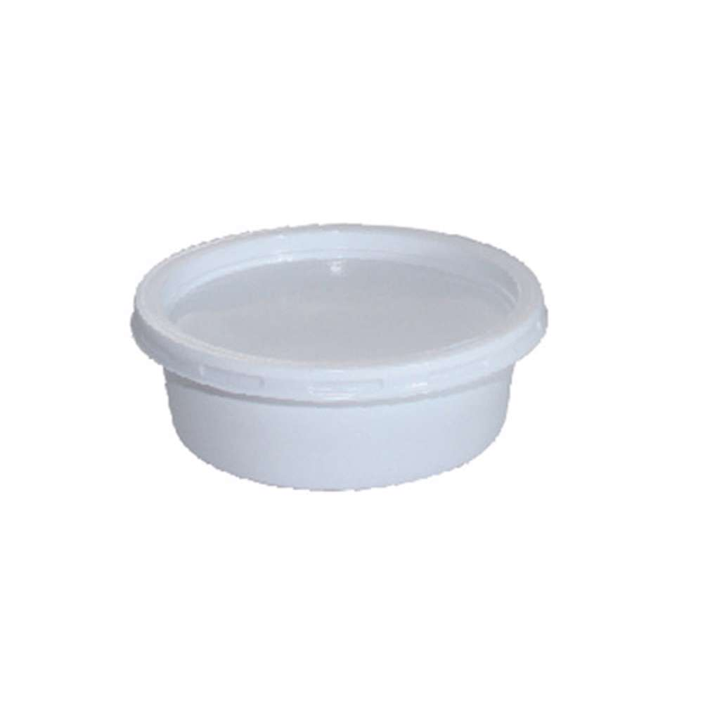 MPC PS Plain White Round Container With White Lid 250ml-116Dia.- 1000pcs