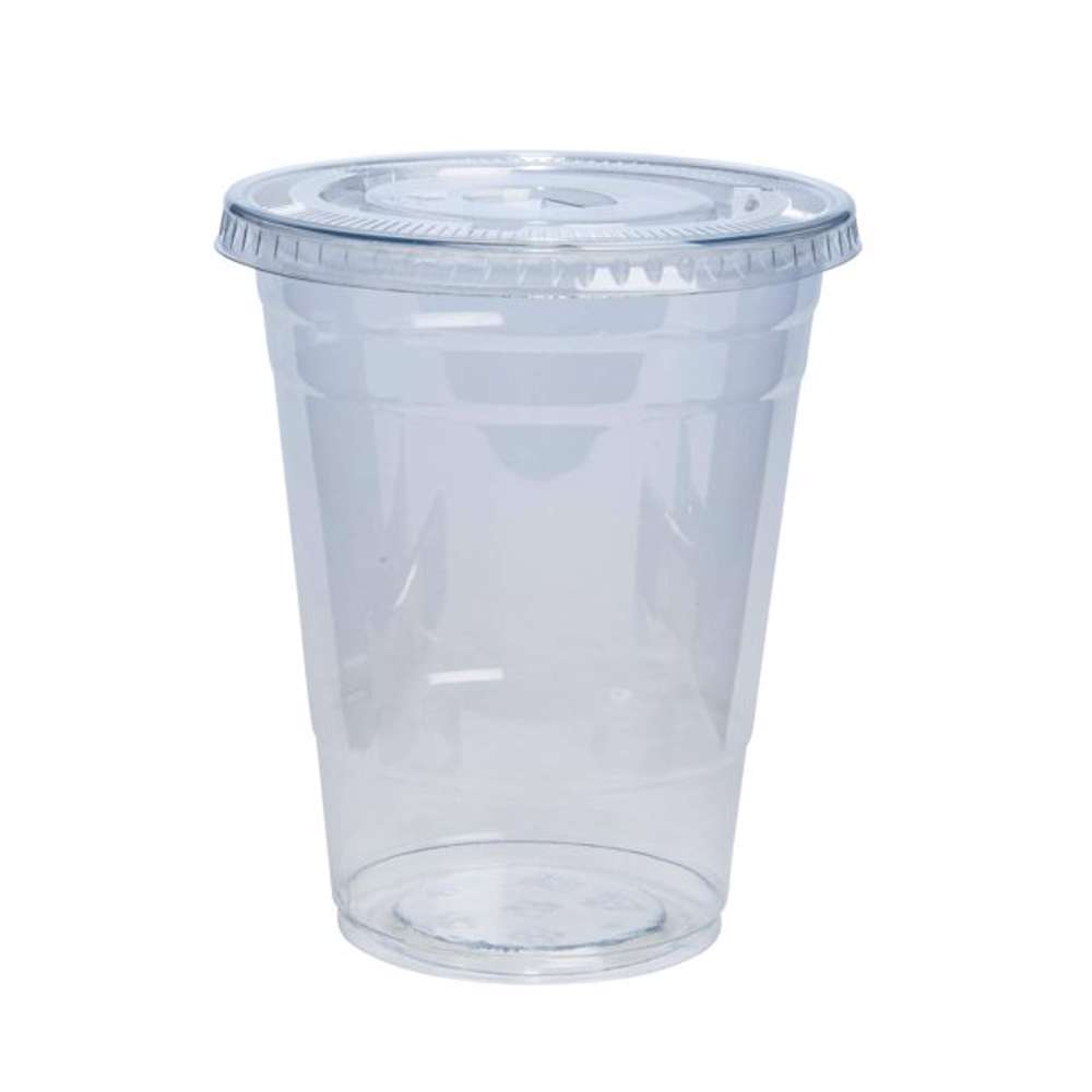 MPC PET Juice Cup Clear With Flat Lid 88.5mm -10oz- 1000pcs