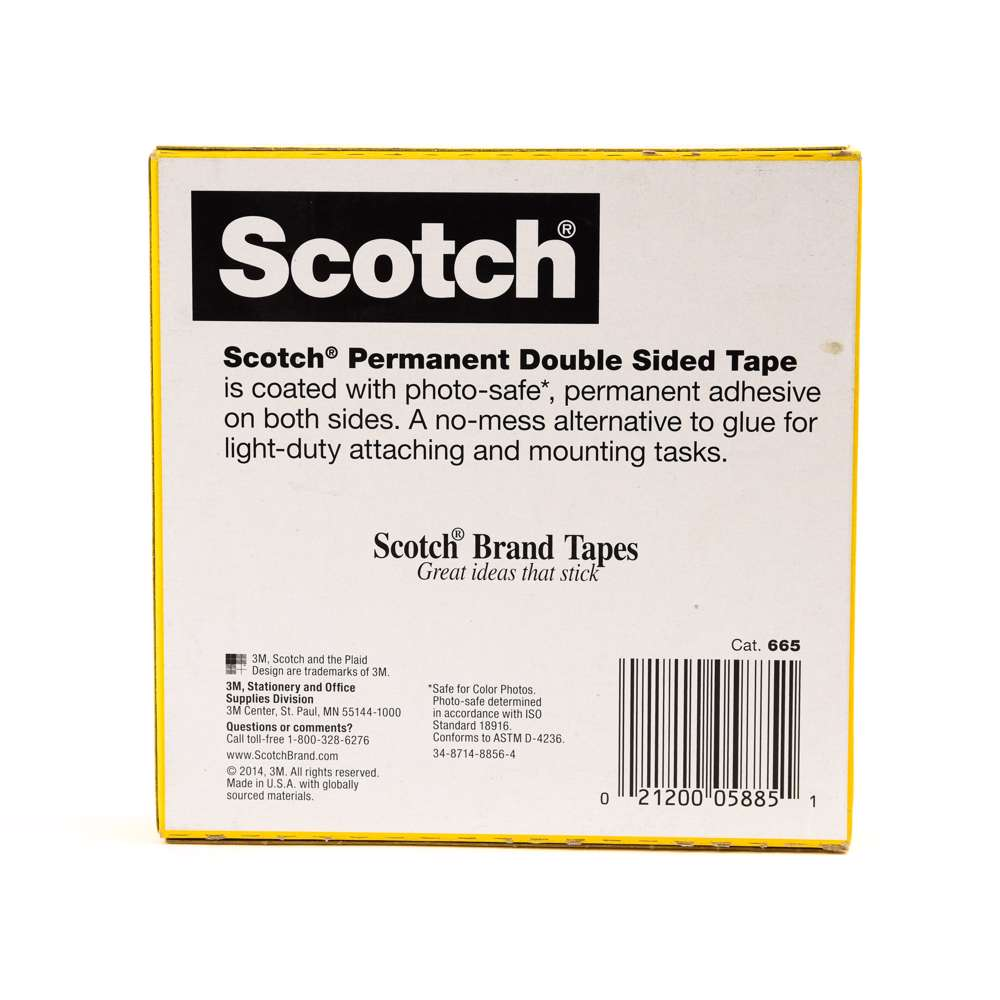 3M 665-3436 Scotch Double Sided Tape 3/4x36