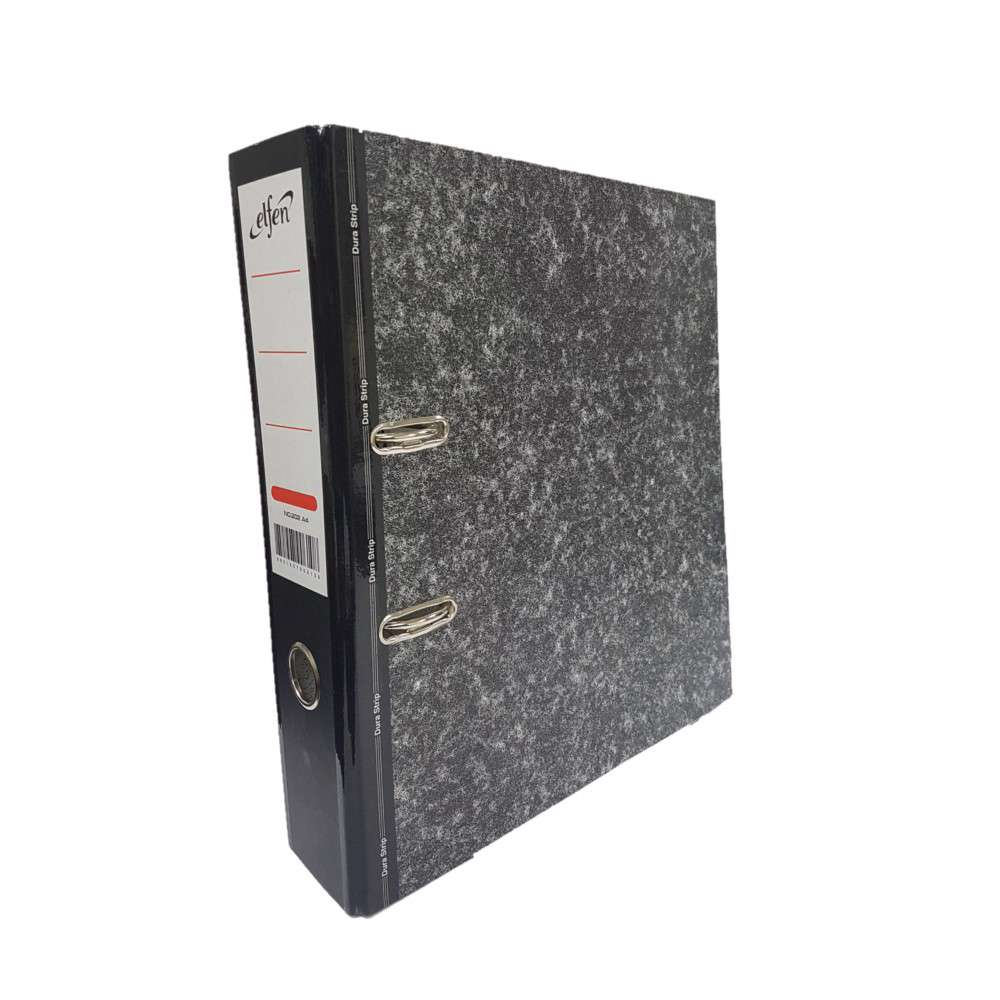 Elfen 202A Box File Card Board A4 Size Large Spine 3 Inch Width Colour Black