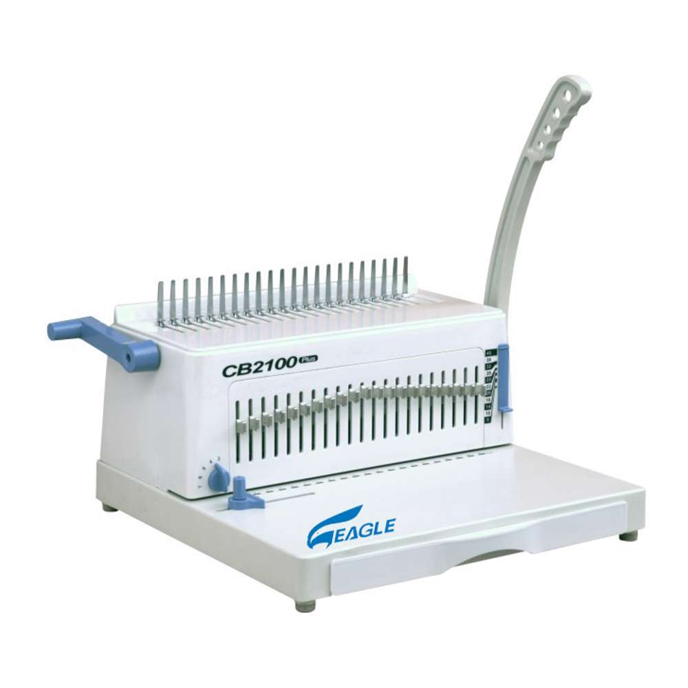 Eagle Spiral Binding Machine CB2100 Plus (Comb-Manual) - White