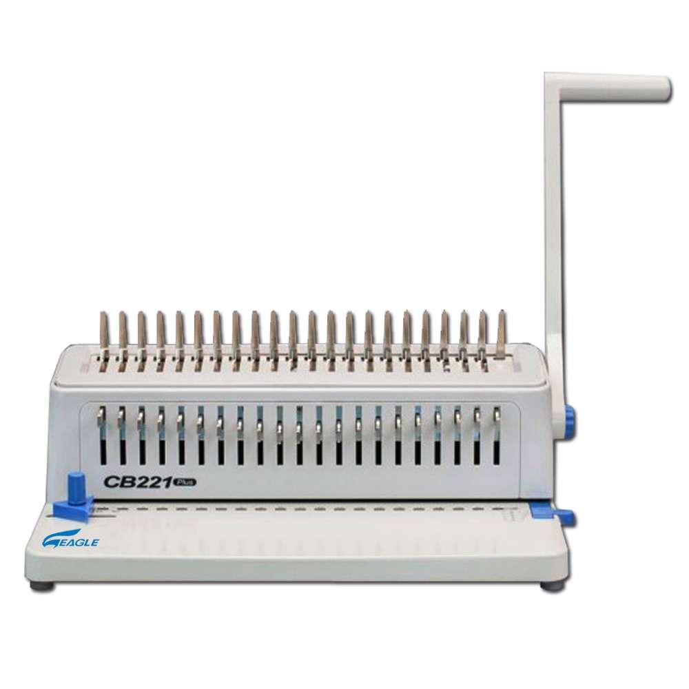 Eagle Spiral Binding Machine CB-221 Plus (Comb-Manual) - White