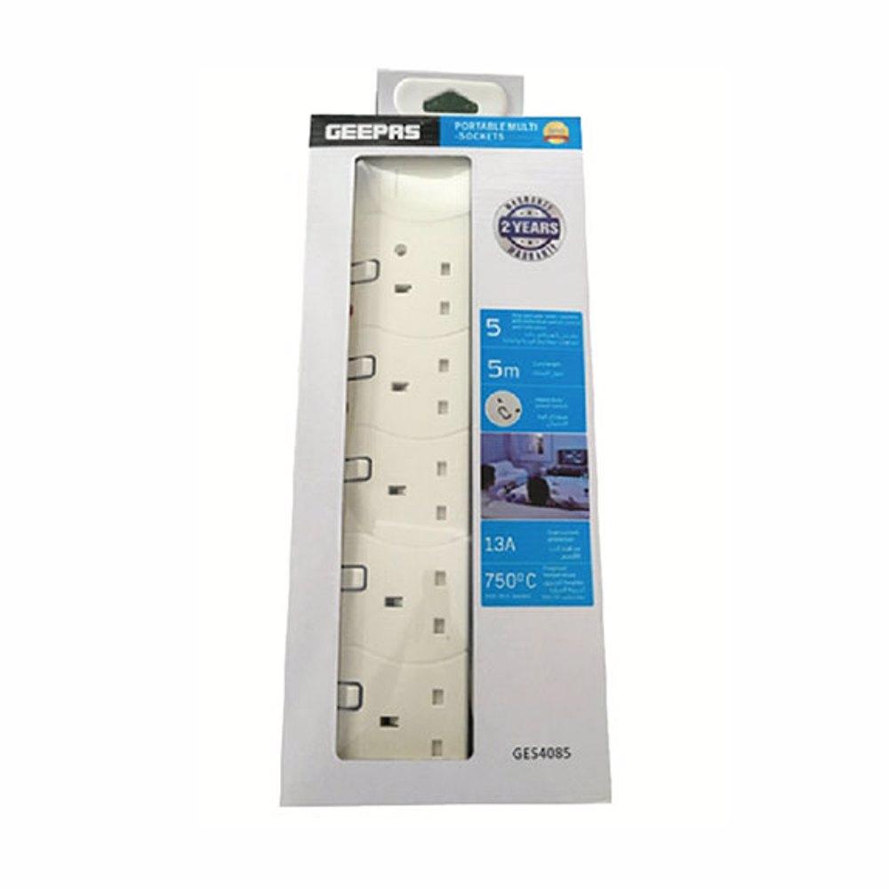 Geepas GES4085 5 Way 5meter Sockets Extension Board