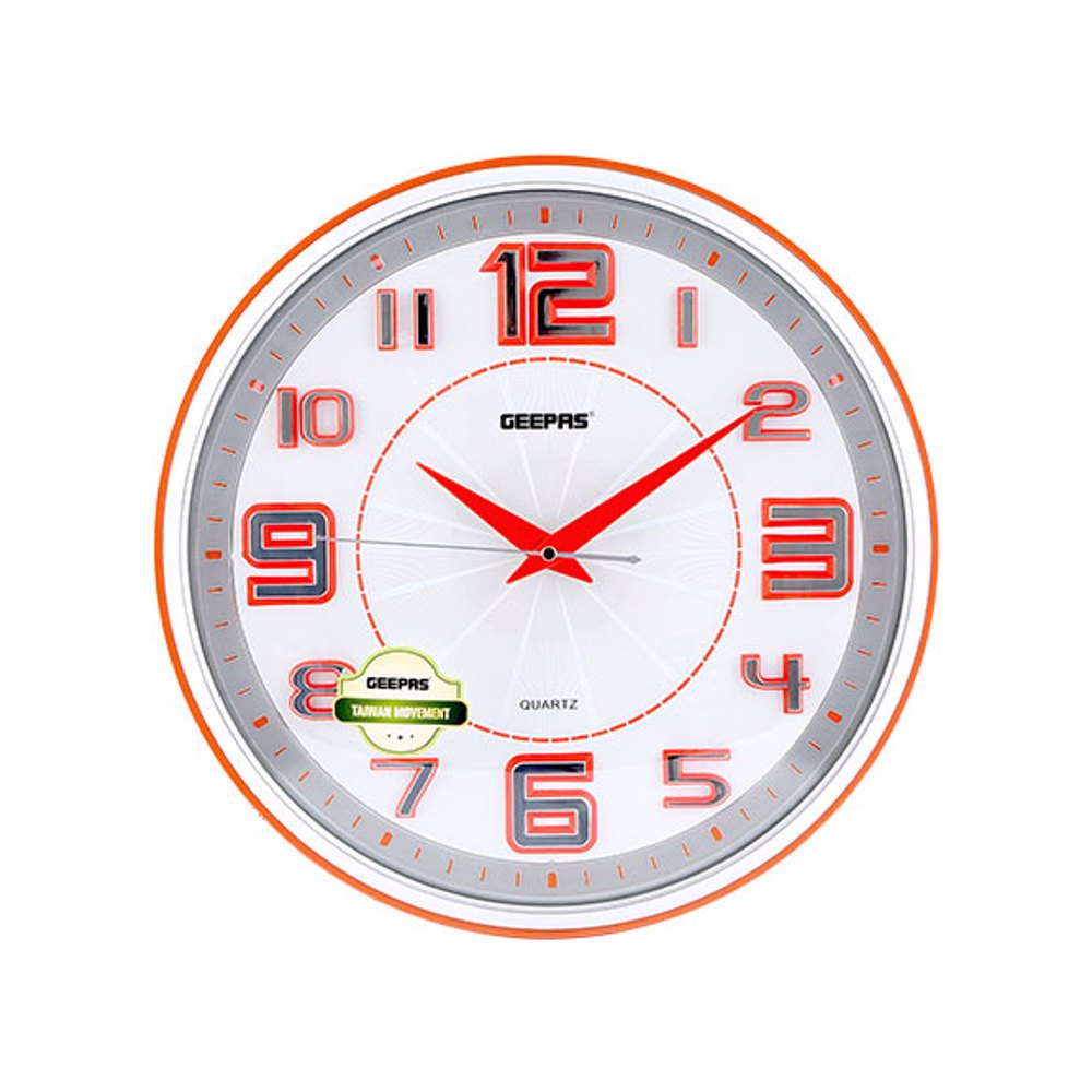Geepas GWC4813 Wall Clock 3Dhour Numbers