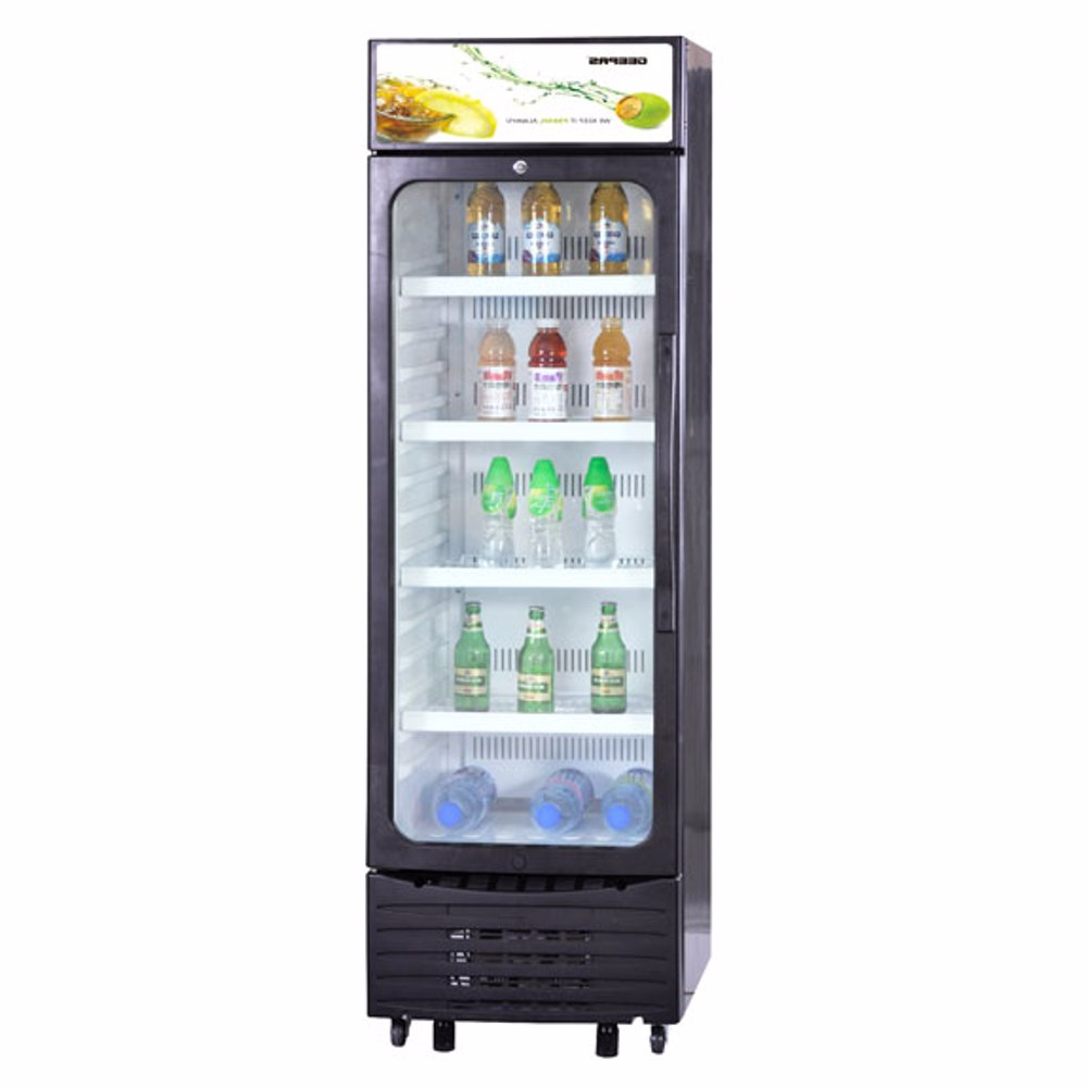 Geepas GSC6548 Show Case Nofrost Single Door Fridge, 280L - Black