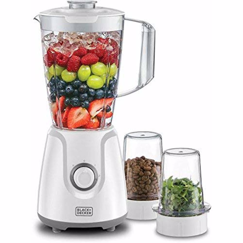 Black+Decker BX4000-B5 400W Blender with Grinder Mill and Chopper Mill - White
