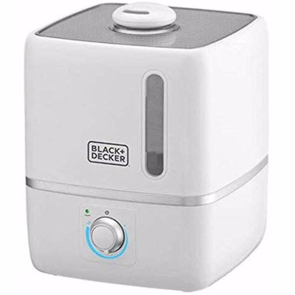 Black+Decker HM3000-B5 Compact Ultrasonic Air Humidifier for Home and Office, 3L - White