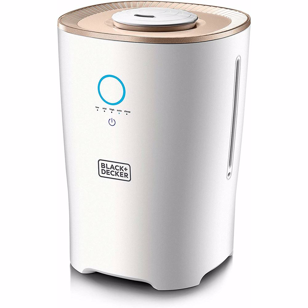 Black+Decker Humidifier, White/Rose Gold, 4 Liters, HM4000-B5