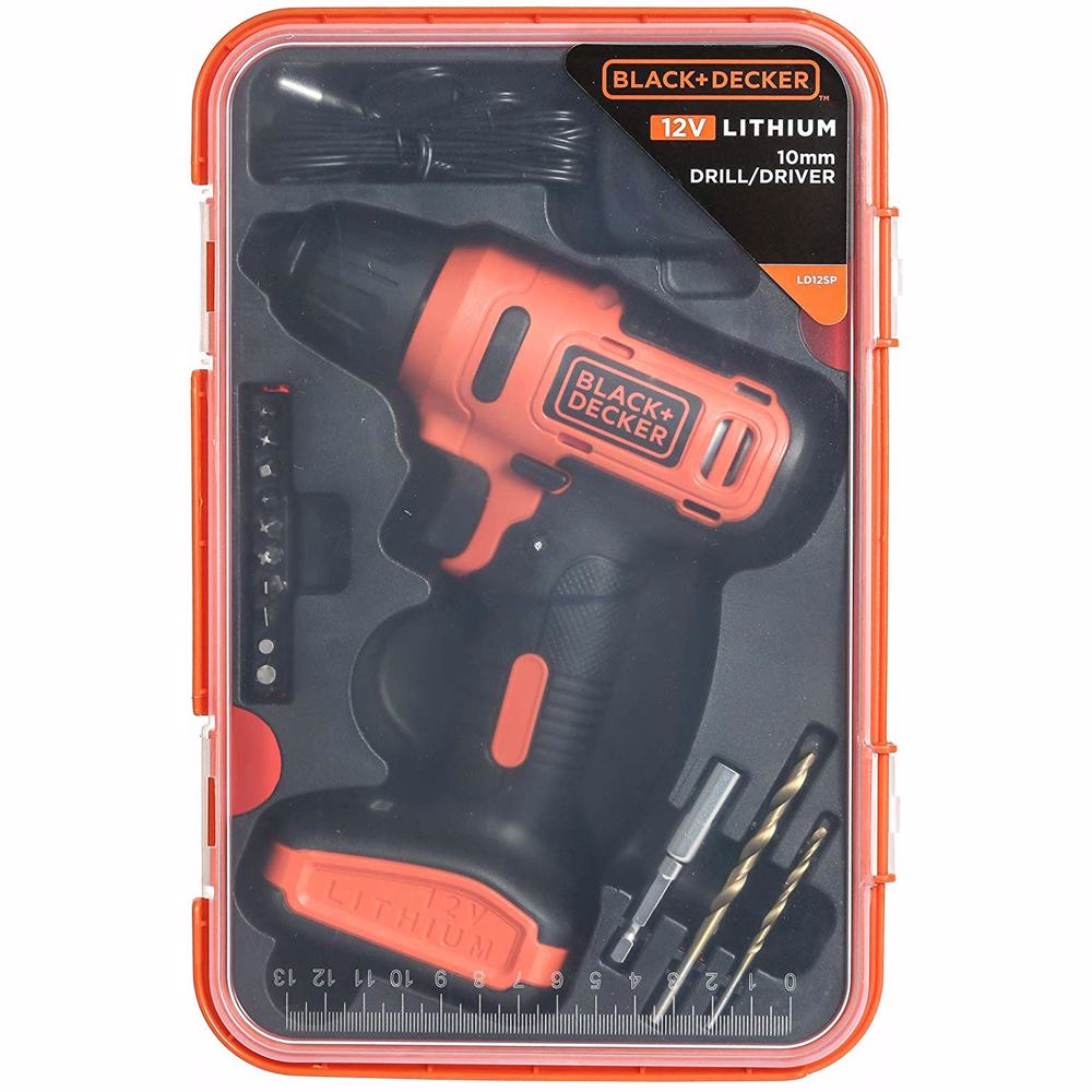 Black+Decker LD12SP Cordless Driver Dill 12V plus 13-Piece Accessories Box
