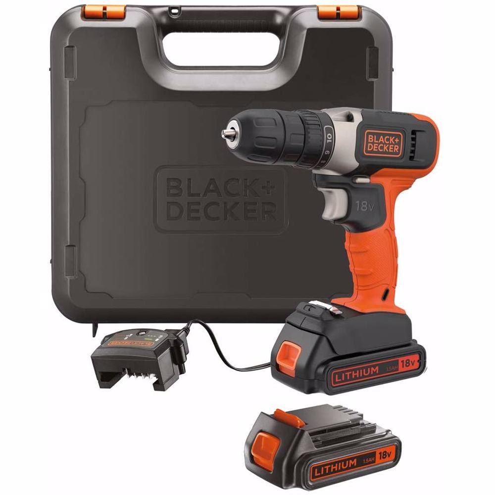 Black+Decker BCD001C2K-GB Drill Driver 18V + 2 x 1.5Ah Battery