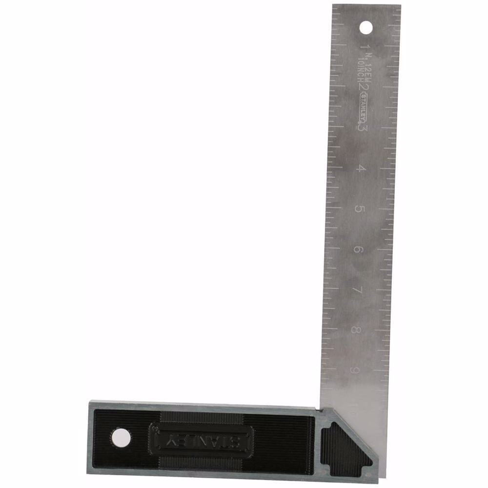 Stanley Try Square Zinc Handle, 10 Inch, 46534