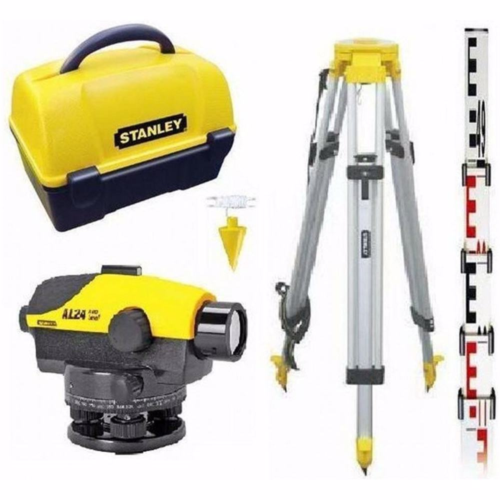 Stanley Level AL24 GVP Levelling Instrument Set with Tripod and Carry Case, 1 – 160