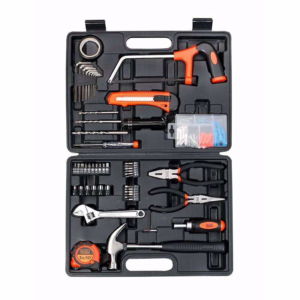 Black+Decker Hand Tool Kit, Orange/Black, BMT108C, 108 Pieces