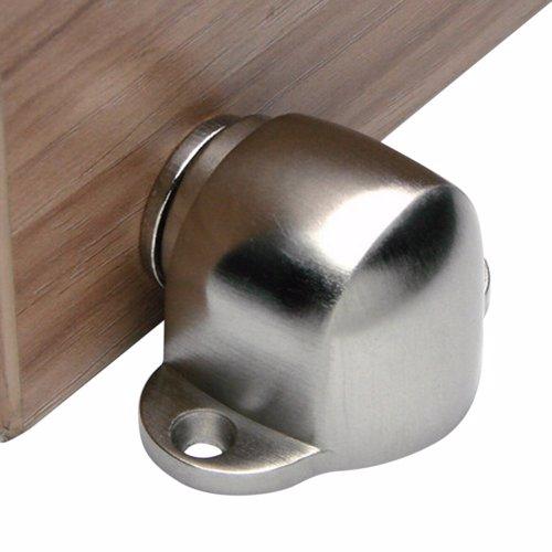 Dorfit DTDS031 Zinc Magnetic Door Stopper Floor Mounted, Satin