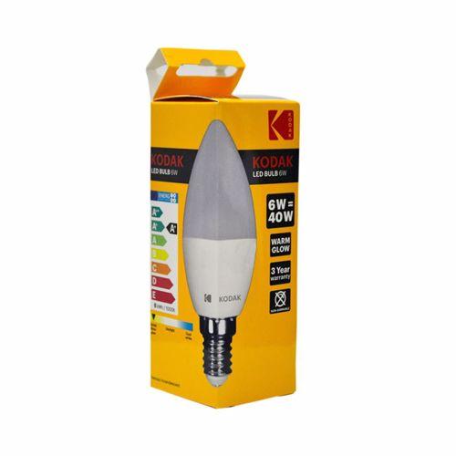 Kodak Led Bulb Candle C37 E14 6W - Warm Glow
