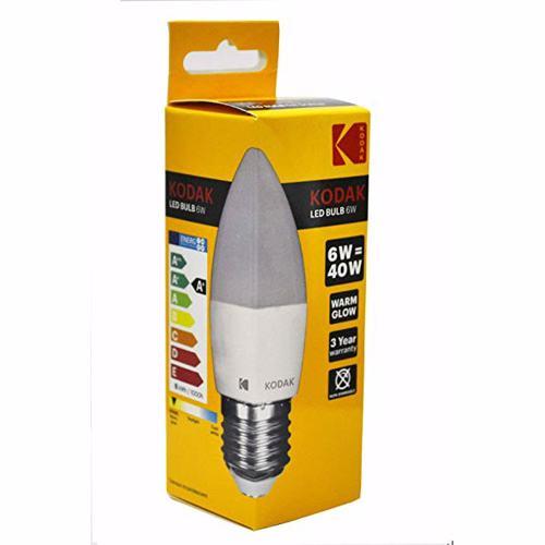 Kodak Led Bulb Candle C37 E27 6W - Warm Glow