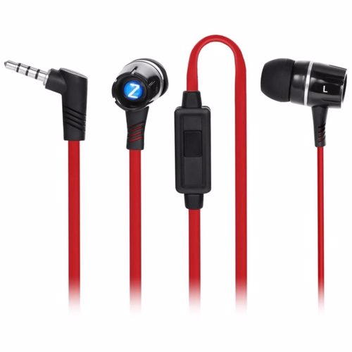 Zoook Noise Isolating EarPhones with built in Microphone - Red+Black