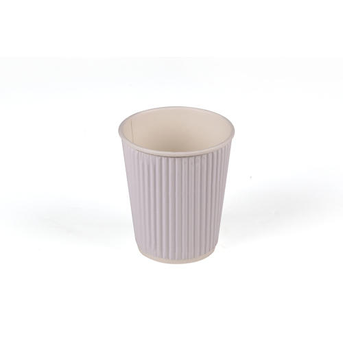 Hotpack 500- Piece Paper Ripple Wrap Cup Set White 8 ounce