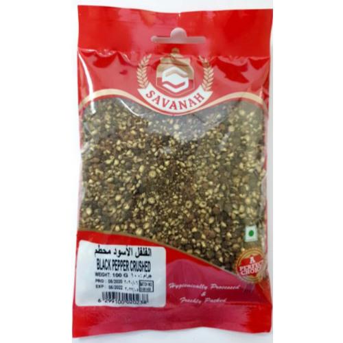 Savanah Black Pepper Crushed - 100 Gm