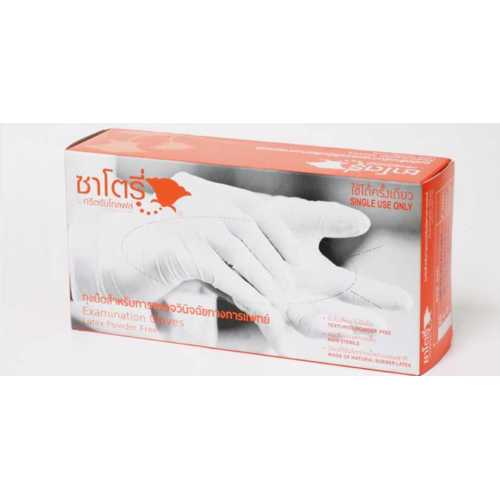 Sri Trang Golf Latex Gloves Medium Neutral 100pcs Powder Free