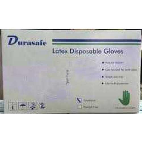 Durasafe Latex Gloves Large White (100 Pcs/Box) Powder Free