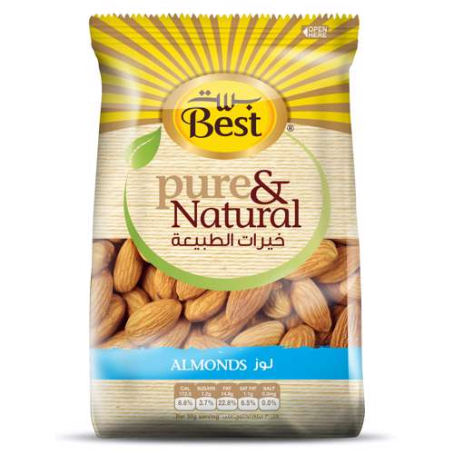 Best Pure & Natural Almonds Bag 325gm