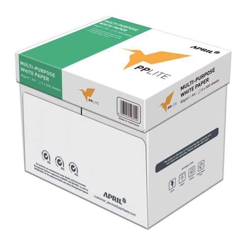 PP Lite A4, 80GSM-500 Sheets/Ream,5 Reams in a Carton