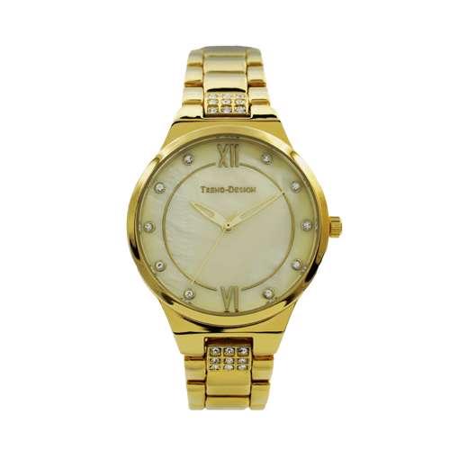 Trend Setter Women''s Gold Watch - Metal Band TD-146L-1