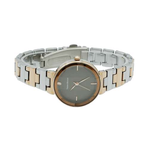 Trend Setter Women''s Two Tone Rose Watch - Metal Band TD-151L-3