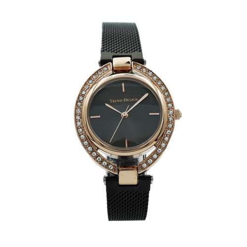 Trend Setter Women''s Black Watch - Mesh Band TD-154L-5