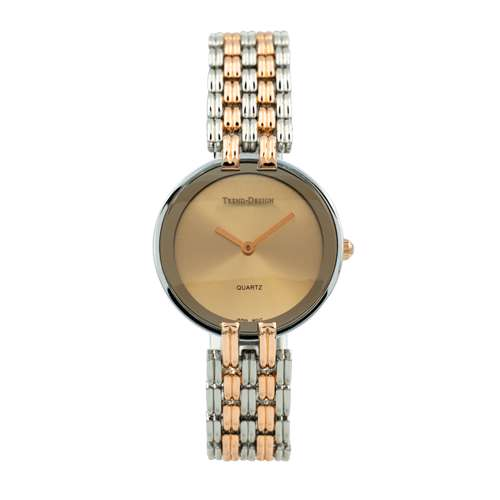 Trend Setter Women''s Two Tone Rose Watch - Alloy Metal TD3101L-6