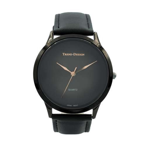 Trend Setter Men''s Black Watch - Leather Strap TD3103M-6