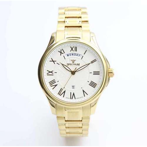 Challenger Men''s Gold Watch - Stainless Steel S12507M-2