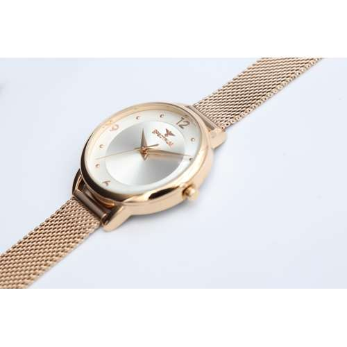 truth Seeker Women''s Rose Gold Watch - Mesh Band S25176L-4
