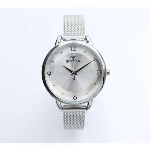 truth Seeker Women''s Silver Watch Set - Mesh Band S25176L-8B