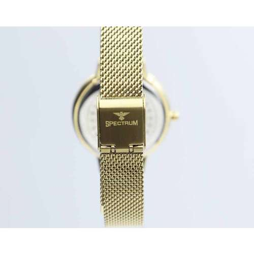 Creative Women''s Gold Watch Set - Mesh Band S25177L-1B