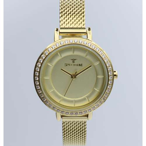 Creative Women''s Gold Watch - Mesh Band S25178L-1