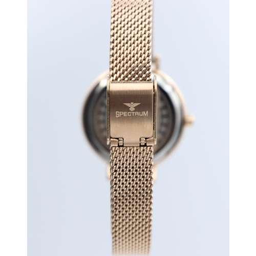 Creative Women''s Rose Gold Watch Set - Mesh Band S25178L-4B