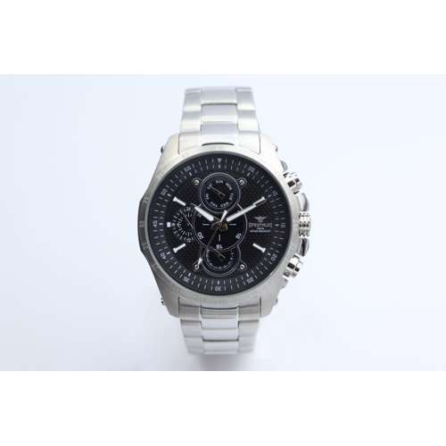 Multidimensional Men''s Silver Watch - Stainless Steel S82429M-2