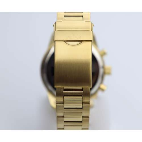 Multidimensional Men''s Gold Watch - Stainless Steel S82436M-2